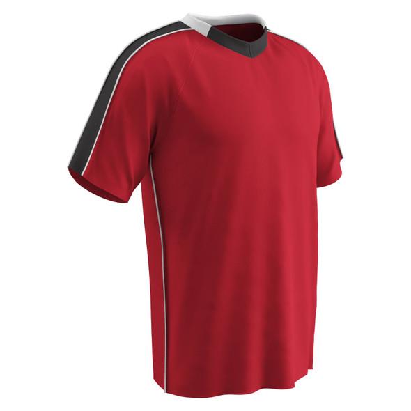 Champro Adult Mark Soccer Jersey Scarlet Black White Medium
