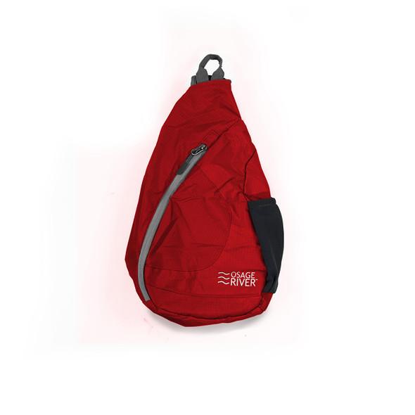 Osage River Taber Sling Bag - Red/Gray