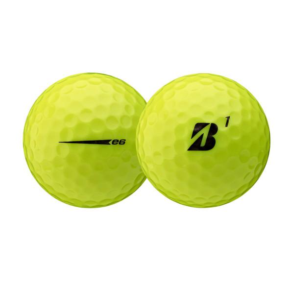 Bridgestone 2021 e6 Yellow Golf Ball - Dozen