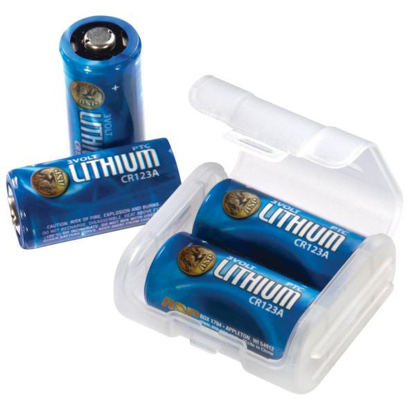 ASP CR123A ASP Lithium Batteries 4 and Link Case Clamshell