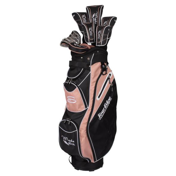 Tour Edge Moda Silk Womens Golf Set-Black-Rose Gold-RH