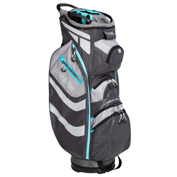 Tour Edge Hot Launch Xtreme Cart 5.0 Bag-Silver-Blue