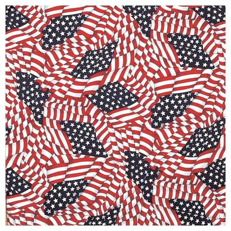 TOSSED AMERICAN FLAG