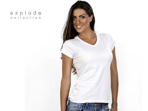 VIOLA Ženska pamučna majica sa V-izrezom 50.021