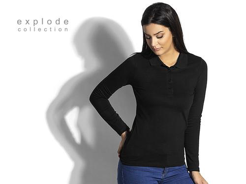 UNA LSL Ženska pamučna polo majica dugih rukava 50.044