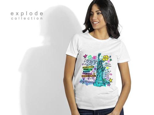 EXPLODE SUBLI LADY Zenska majica predvidjena za sublimaciju 50.056
