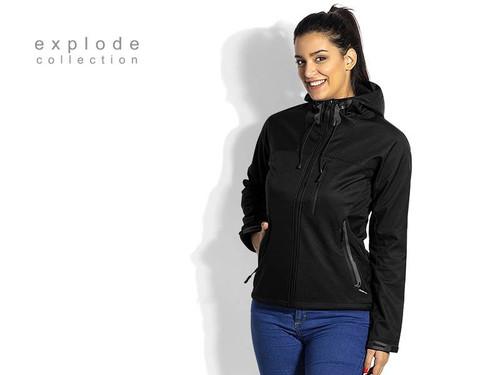 EXPLODE BLACK PEAK WOMEN Zenska softsel jakna sa kapuljacom 57.049