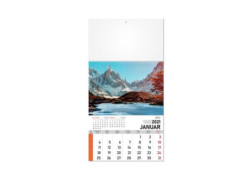 PRIRODA 58 Zidni kalenda: 12 listova, mesečni