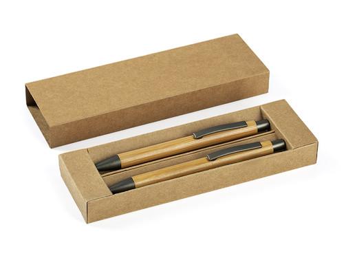 BAMBOO Drvena hemijska i tehnička olovka u setu
