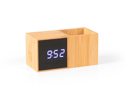 GRID Digitalni stoni LCD sat sa držačem za olovke