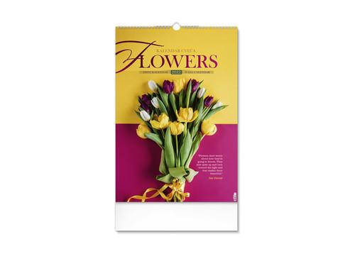 FLOWERS Zidni kalendar: 7 listova, dvomesečni