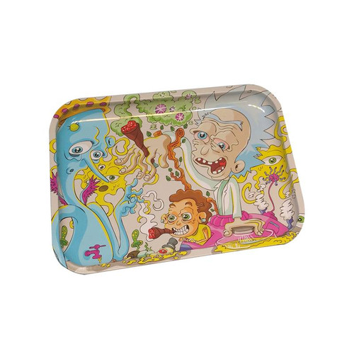 "13"" x 9"" Tin Rolling Tray - Rick & Morty"