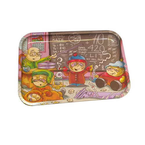 "13"" x 9"" Tin Rolling Tray - Life Lessons (South Park)"