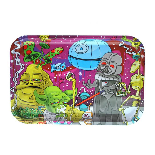 "13"" x 9"" Tin Rolling Tray - Dab Wars"