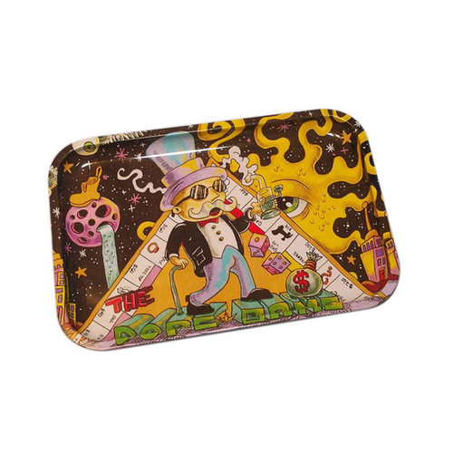 """13"""" x 9"""" Tin Rolling Tray - Dope Game"""