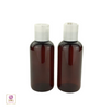 Plastic Bottles PET White Disc Top  4 oz. (Amber) • 9724DW