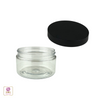 Plastic Jars Heavy Wall Clear PET Containers - 4 oz.  (White / Black) • 9371 / 9372