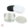 Clear Plastic Jars  w/ Pressure Sensitive Liners - 4 oz.  (White / Black) • 9373 / 9374