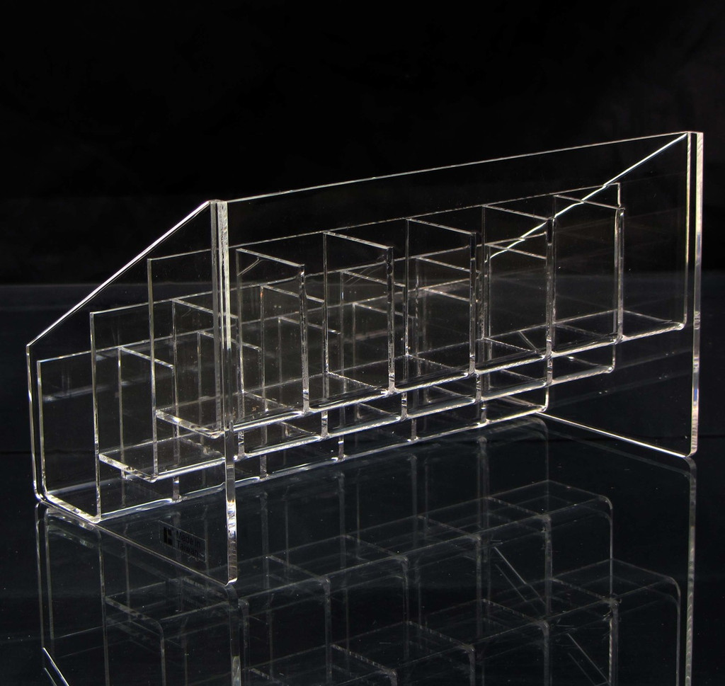 Acrylic Organizer 3 Tier 18 Slot Beauty Storage Display - sku# 5603