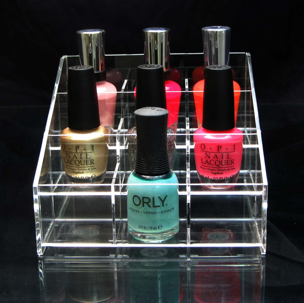 Square Acrylic Nail Polish & Cosmetic Organizer Display - sku# 5680