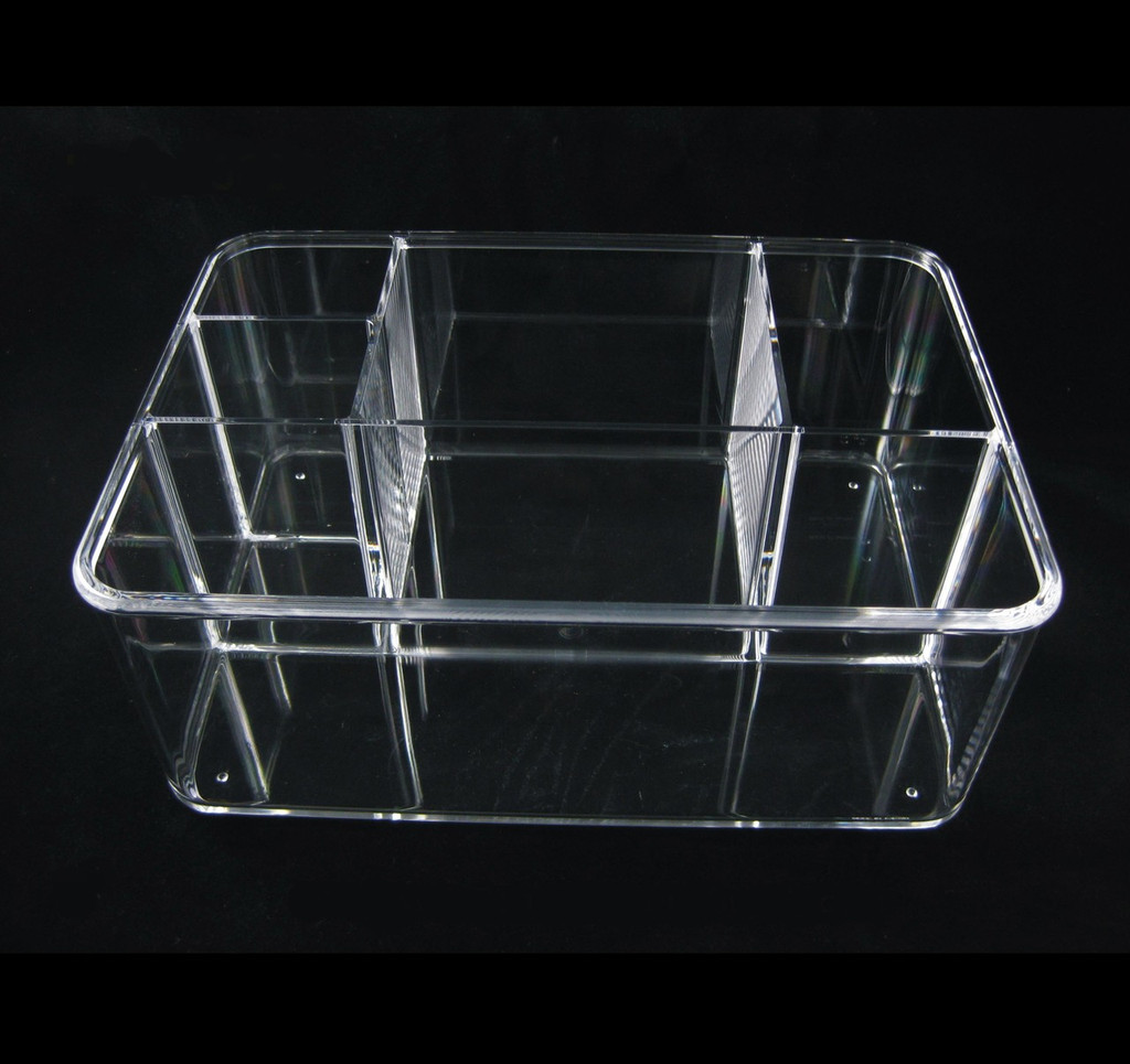 Stackable Acrylic 5-Compartment Cosmetic Beauty Organizers - sku# 5682