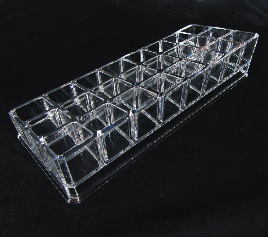 Acrylic Cosmetic Makeup Organizer 3-Tier 24 Lipstick Holder
