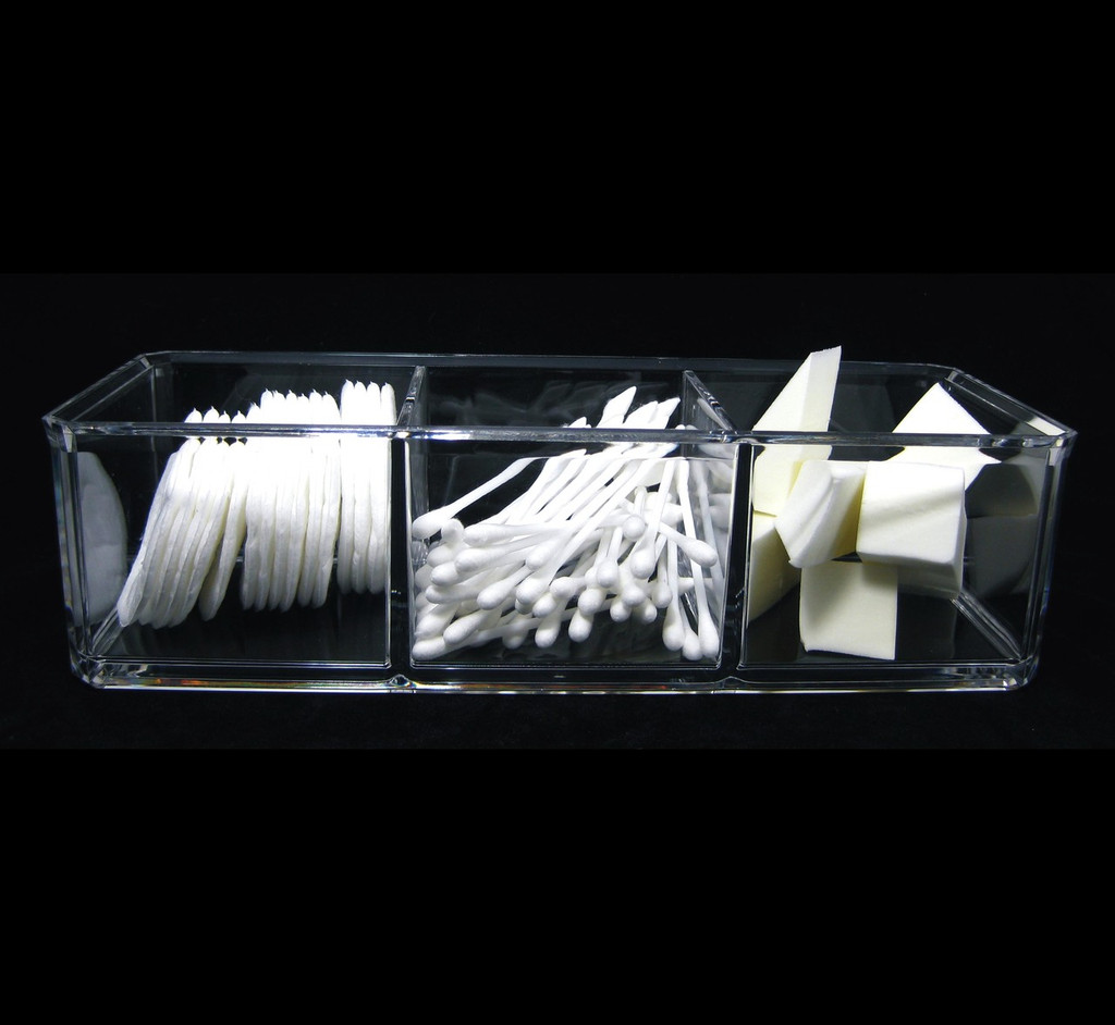Acrylic 3-Compartment Stackable Organizers - sku# 5698