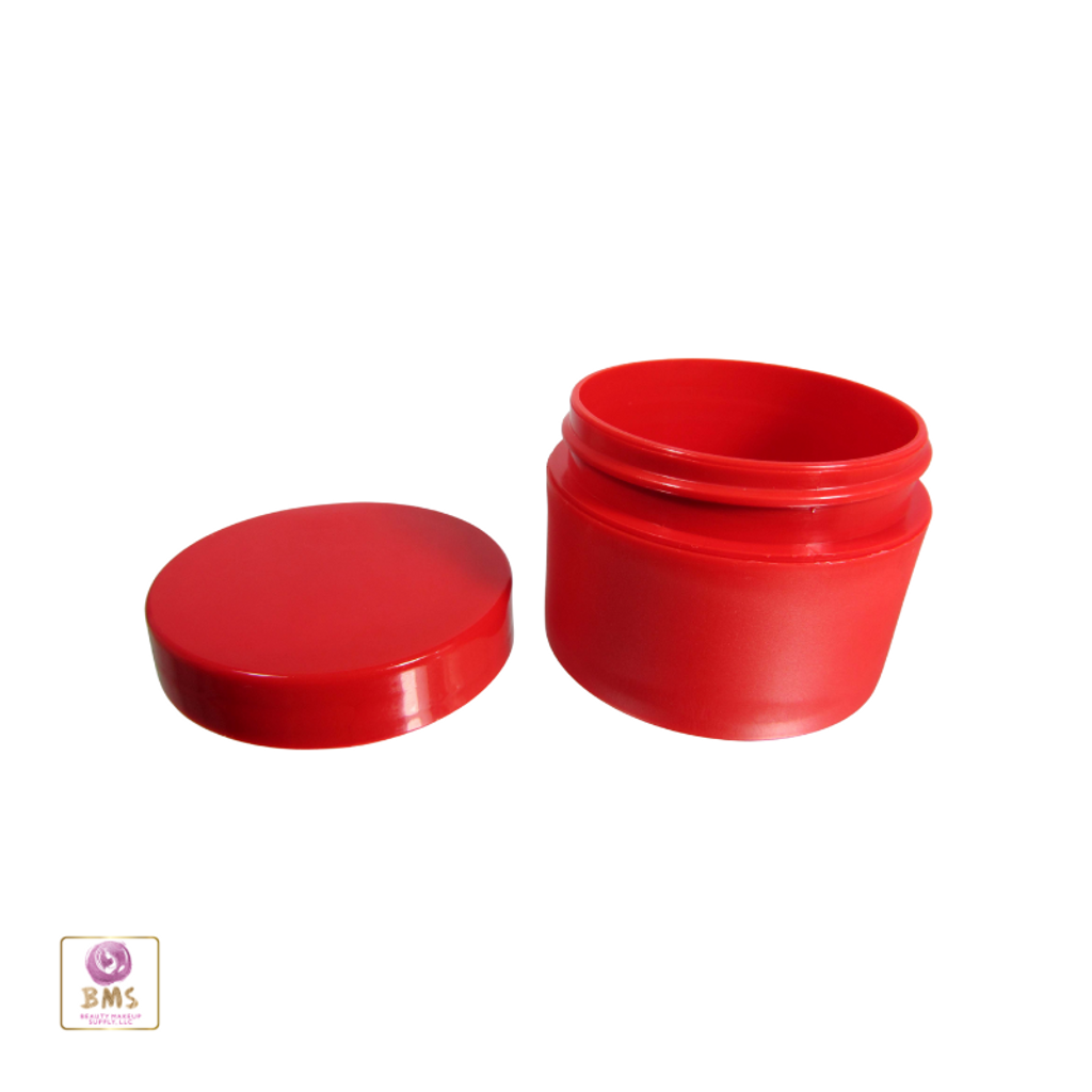 Plastic Jars Cosmetic Beauty Containers with Lid - 50 ml  (Red) 9350