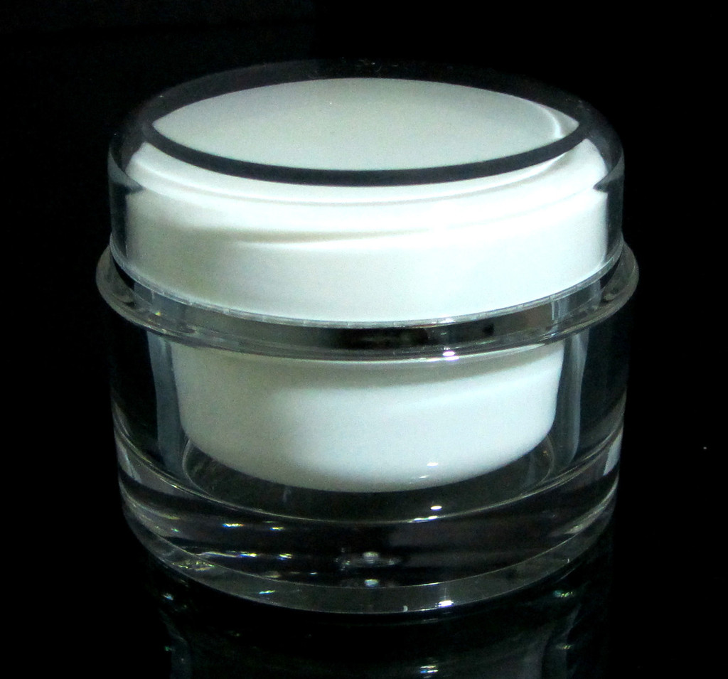 Acrylic Cosmetic Beauty Containers Cream Jars w/ Sealing Disc - 50ml