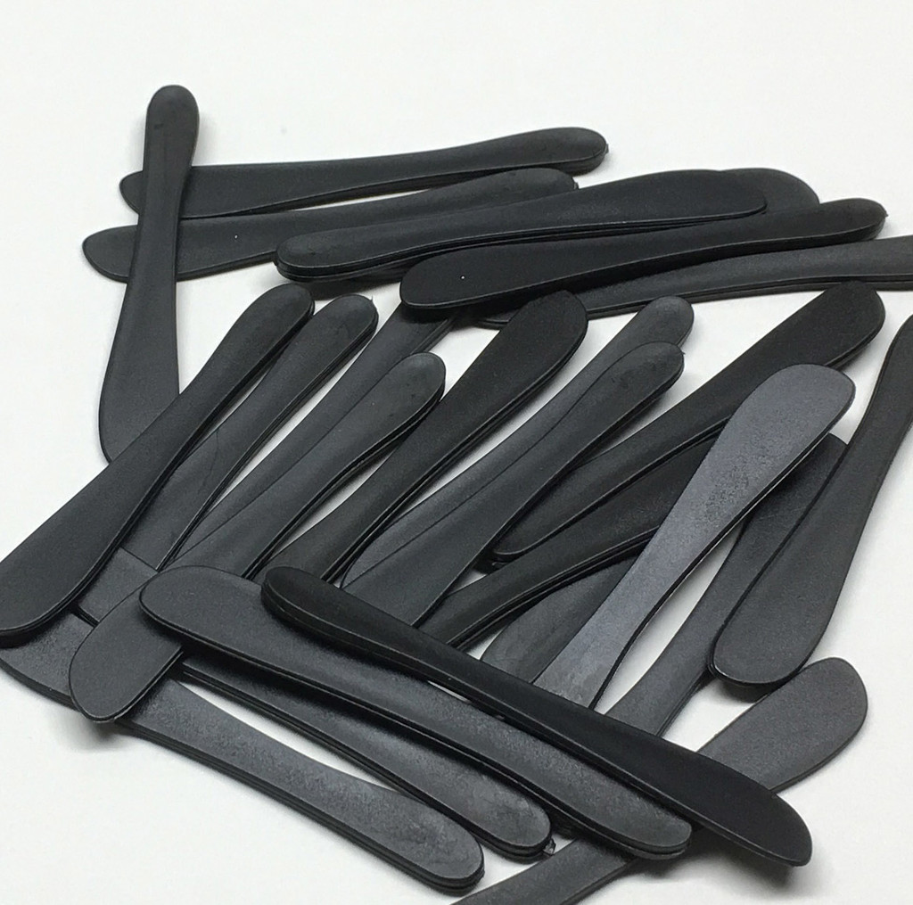 Cosmetic Spatulas Black Rounded Tip Makeup Mixing Tool (50)