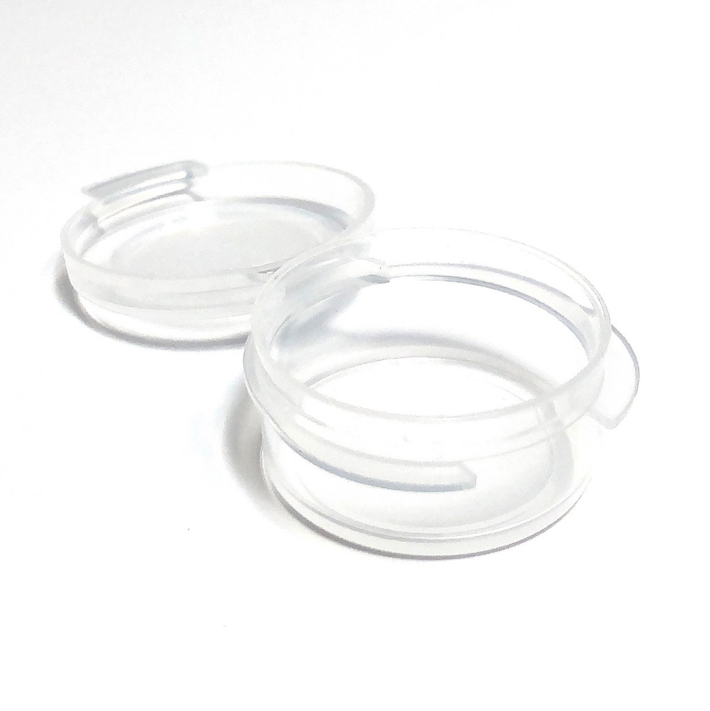 Cosmetic Hinged Lid Jars Beauty Containers - 5 Ml (Clear)