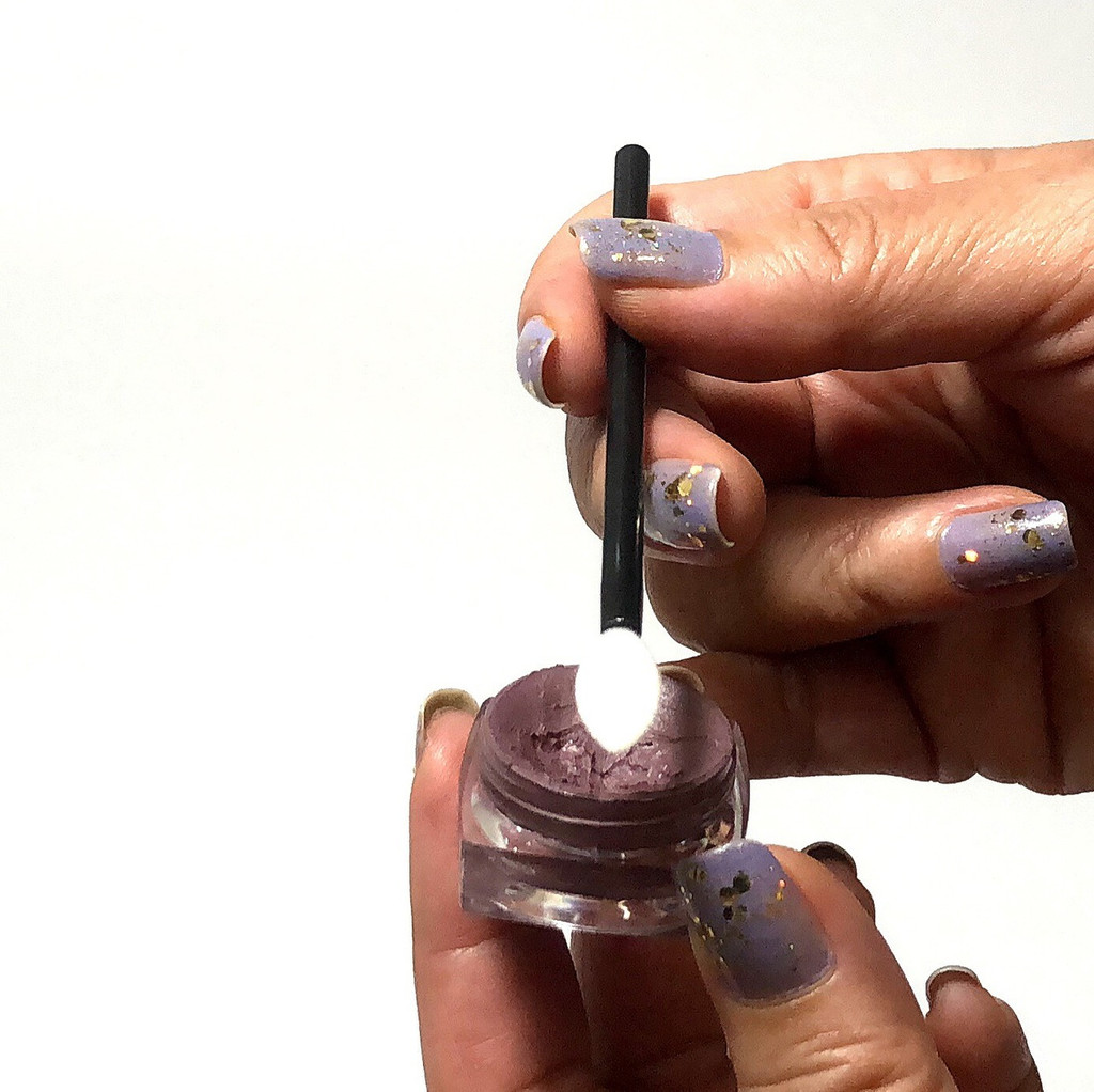 Disposable Lip Wands Flocked Teardrop Sponge Tip Applicators (50)