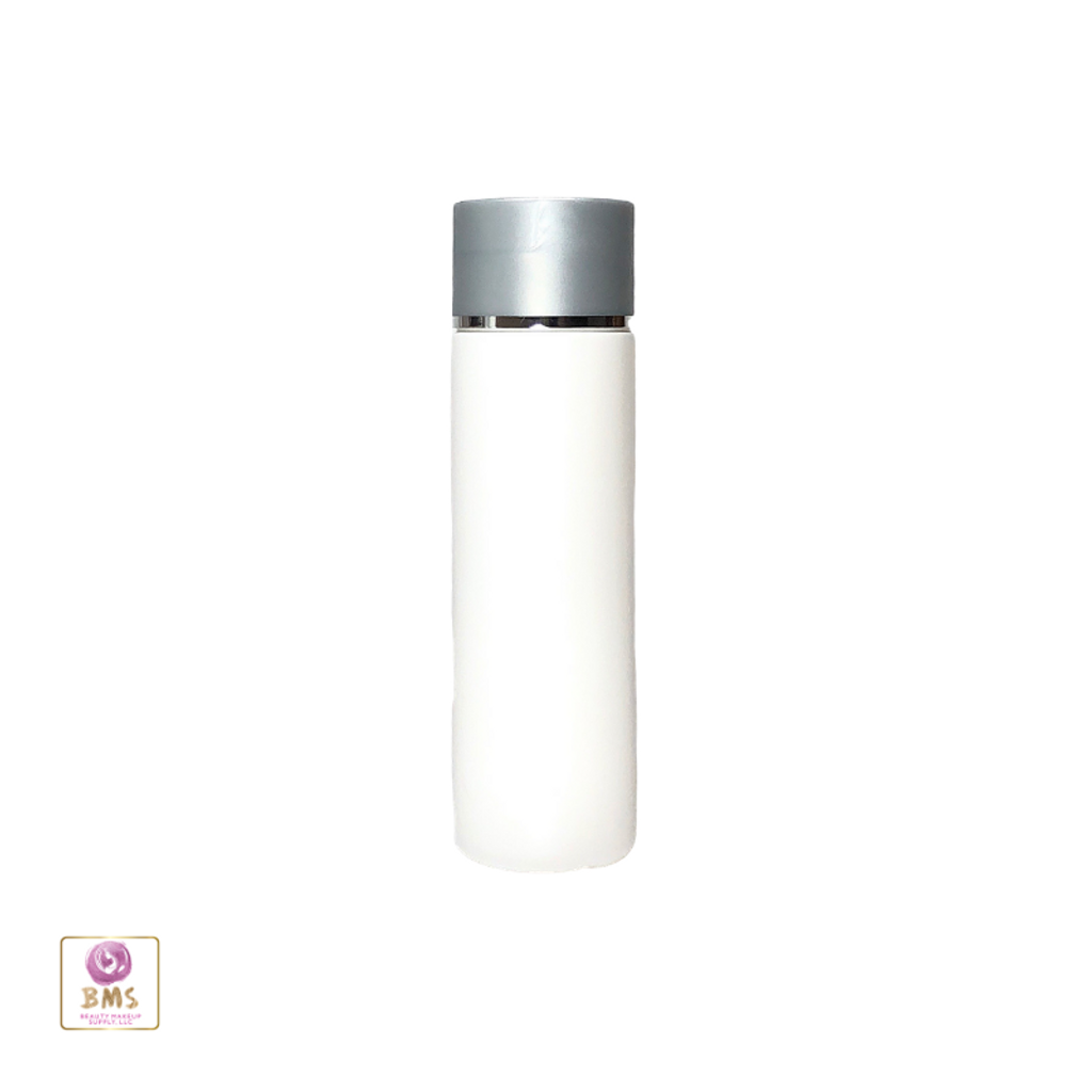 Plastic Bottles PE Squeeze Bottles with Grey Disc Top Cap -200ml (White)