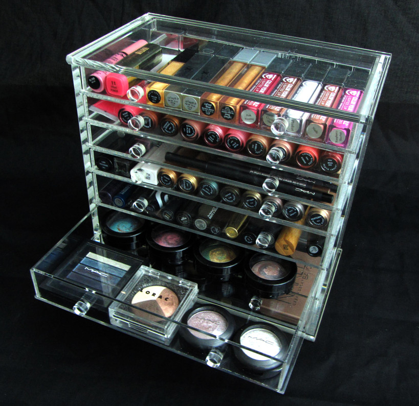 Acrylic Organizers Buy One Get One Free at www.Beauty-Makeup-Supply.com