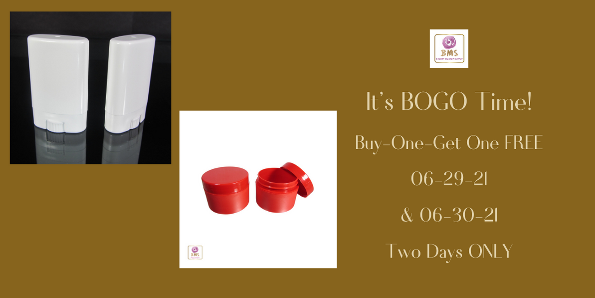 Cosmetic Jars & Lotion Bar Tube BOGO