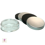 Cosmetic Jars Plastic Beauty Containers with Lids - 20 Gram (Matte Black / Silver Lid) • 3072 / 3025