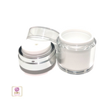 Airless Pump Jars Refillable Beauty Packaging Container - 30 ml / 1 oz. (White) • 3630