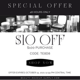 $10 FREE at www.Beauty-Makeup-Supply.com