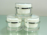 Acrylic Cosmetic Cream Jars Beauty Containers 50 ml - New Product at Beauty Makeup Supply
