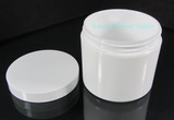 White Straight Edge Cosmetic Jars 4 oz. Beauty Containers - New Product at Beauty Makeup Supply