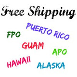 FREE shipping extended to Hawaii, Guam, Puerto Rico, Alaska, APO and FPO For All Beauty Makeup Supply Customers