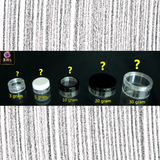 How do I choose the correct size of cosmetic jars for my application?