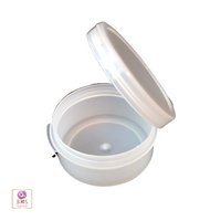 Cosmetic Hinged Lid Jars Beauty Containers - 10 Ml (Natural / White / Black)  •  5098 / 5095 / 5099