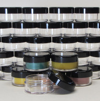 Cosmetic Jars Plastic Beauty Containers  - 10 Gram (Clear / White / Black Lids)