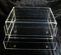 Large Deluxe Acrylic Expandable & Stackable Beauty Organizer Drawers - sku# 5661