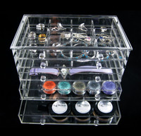 Luxury Acrylic 5-Drawer Jewelry Storage Organizer Box - sku# 5692
