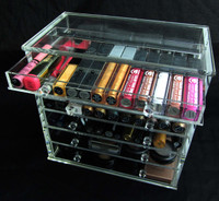 Acrylic Cosmetic & Jewelry Organizer Luxury 7-Drawer Table Top Style - SKU# 5696