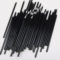Disposable Eyeliner Applicators White Tip Dip Stick Stiff Liquid Liner Wands (100)