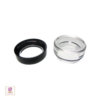 Black Trim Cosmetic Jars Plastic Beauty Containers - 5 Gram (Acrylic Window Caps) • 5015