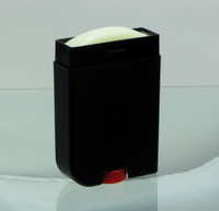 Lotion Bar Deodorant Tube Beauty Container - 2 oz.  (White & Pink / Black & Red)